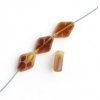 Fire polished 12x8mm Cut Fancy Diamond Two Tone Natural Topaz